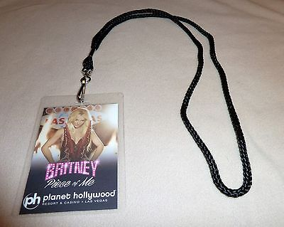 Britney Spears Piece Of Me Vip All Access Backstage Pass & Lanyard Meet & Greet!