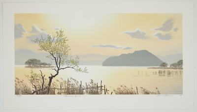 Original signed Brian Williams limited edition lithograph - Lakeshore Spring