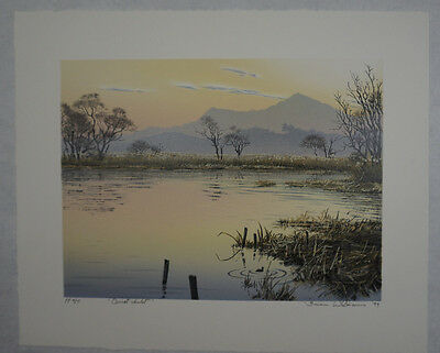 Original signed Brian Williams limited edition lithograph - Quiet Inlet