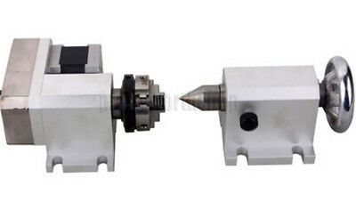 CNC Engraving Machine Router Rotational Rotary Axis F A-Axis, 4th-Axis+TailStock