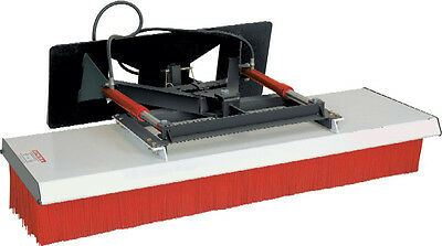 """Skid Steer Push Broom 72"""" Wide Hydraulic Angle With Mount & Hoses"""