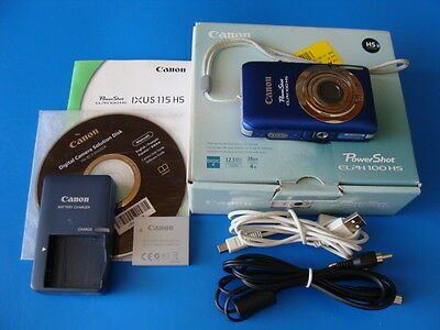 CANON POWERSHOT ELPH 100 HS/IXUS 115 HS 12.1MP 4X OPTICAL ZOOM DIGITAL CAMERA