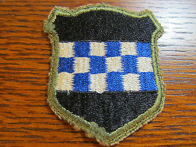 Wwii Original 99Th Infantry Division White Back Patch Bulge Europe Germany
