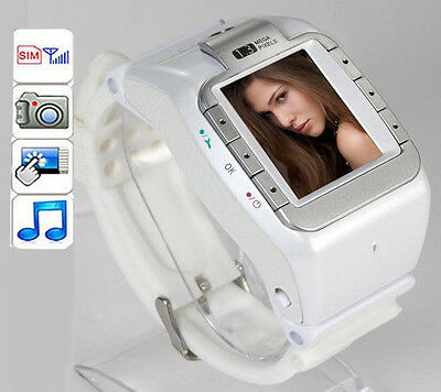 Unlocked GSM Tri-Band Touch Screen Camera DV Bluetooth Watch Mobile Cell Phone