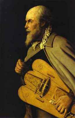 Huge Oil painting male portrait Hurdy Gurdy Player free postage canvas