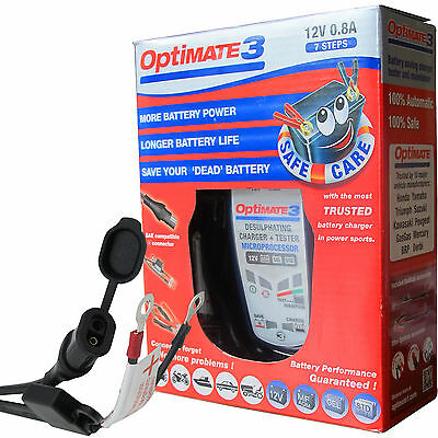 R 1200 RT Optimate 3 Global 12v Motorcycle Battery Charger