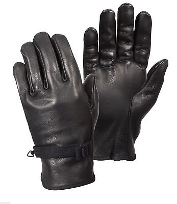 Black Leather D-3A Military Gloves 3383 Rothco