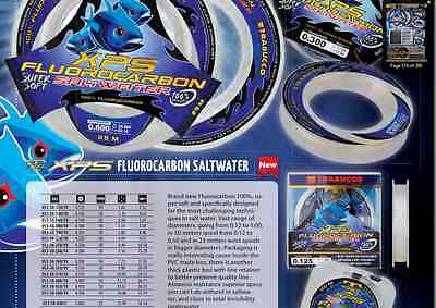 Salt Water fluorocarbon fishing line Trabucco  XPS T Force  7lb to 127lb b/s