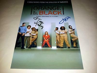 "Orange Is The New Black Castx2 Pp Signed 12""x8"" Poster Taylor Schilling"