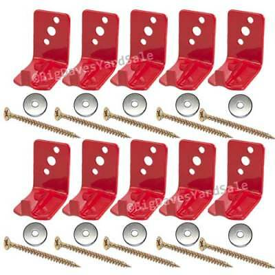 10 - Universal Wall Hooks, Bracket or Hanger for 10 to 15 lb. Fire Extinguishers