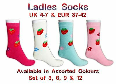 S1 Ladies 3 to 12 Pack Winter Printed Thermal Boot Outdoor Hike Snow Warm Socks