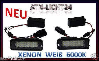 LED License plate light Car VW Golf 4 5 6 Passat 3C Polo 9N Lupo EOS Scirocco