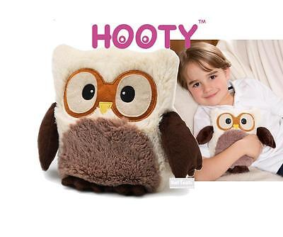 Hooty Owl Fully Microwavable Plush Soft Toy Lavender Scented: CREAM / BEIGE Owl