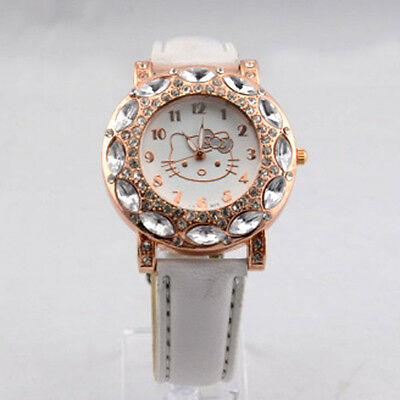 bianco orologio Hello Kitty con cristalli Diamond lovely - watch crystal