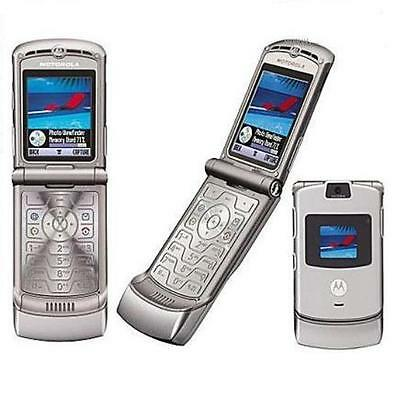 MOTOROLA RAZR V3 CELL PHONE FOR ATT AT&T SILVER