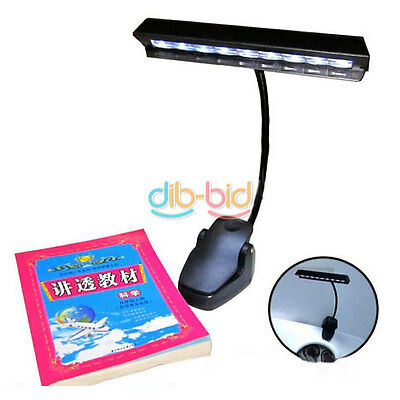 9 LED Clip Light Orchestra Arm Music Stand Adapter Book Reading Lamp