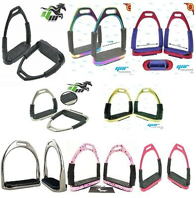 YNR England Stirrups Iron Steel Flexible Safety Horse Riding Equestrian Treads
