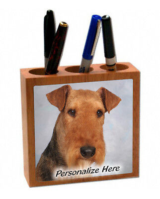 Airdale Terrier    ( 1 )     Personalized  Pencil and Pen Holder