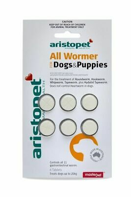 Aristopet All Wormer Tablets for worming Dogs & Puppies x 6 Tablets worm dogs