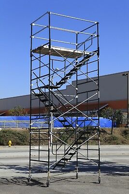"SCAFFOLD STAIRWAY CASE ROLLING TOWER 5' X 7' X 16'7"" to 17' 7"" DECK HIGH CBM1290"