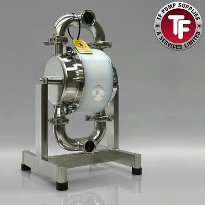 "½"" Sanitary Dellmeco Air Diaphragm Pump–Polished 316 SS-Food-Beverage-Resin"