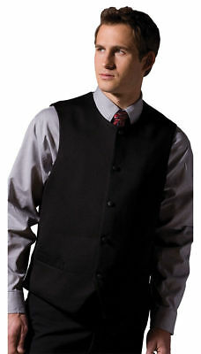 Edwards Garment Men's Fully Lined Ottoman Weave Classic Style Bistro Vest. 4392