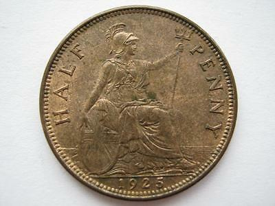1925 Halfpenny, Modified Effigy, UNC.