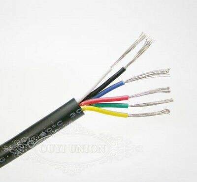 Multicore Wire Flexible Points & Signal Cable Small Power Data AUTO CAR 6 Cores