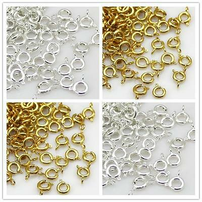 6mm Gold/Silver Plated Bolt Ring Clasps Jewelry Findings
