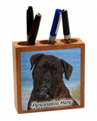 Bullmastiff   brindle color   ( 1 )  Personalized  Pencil and Pen Holder