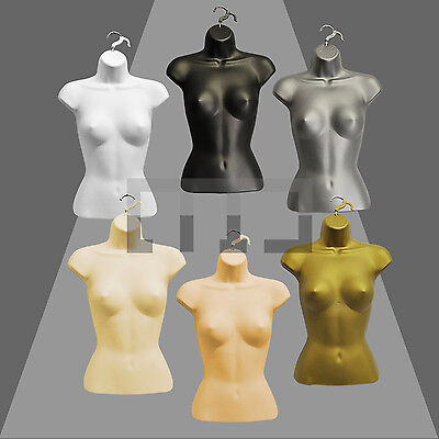 High Quality Half Hanging  Female Mannequin Torso Body Form Display Bust