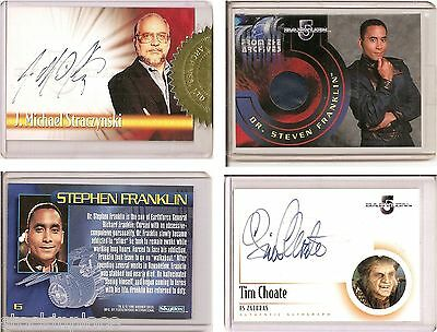 BABYLON 5 Authentic AUTOGRAPH and COSTUME CARDS Limited Editions (price= 1 item)