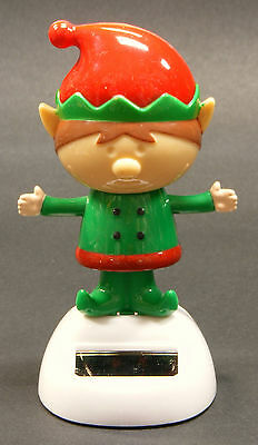 SOLAR POWERED DANCING ELF CHRISTMAS DECORATION GREAT FOR HOME OR OFFICE