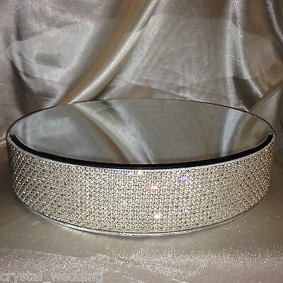 Pearl & Crystal diamante  real rhinestone sparkling cake stand   round or square