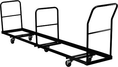 Folding Chair Dolly Vertical Storage - 50 Chair Capacity Transportation Cart