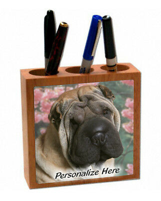 Chinese Shar Pei   fawn color  ( 10 )   Personalized  Pencil and Pen Holder