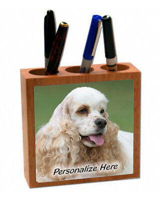 Cocker Spaniel    cream and tan    ( 40 )   Personalized  Pencil and Pen Holder
