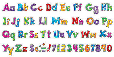 181 Classroom display board Trend Ready Letters - Furry Friends Patchwork 4""