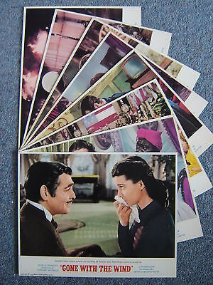 """""""GONE WITH THE WIND"""" - Full Set of 8 Lobby Cards - NEW & SEALED"""