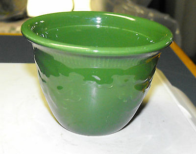 VINTAGE OLD T.S.T. GENUINE OVEN SERVE WARE SMALL BOWL DARK GREEN FLORAL