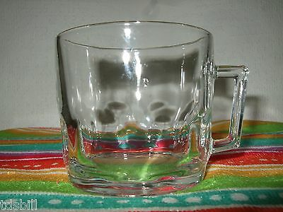 SET OF SIX (6) ARCOROC PETALE CLEAR GLASS PUNCH/TEA CUPS - Made in France