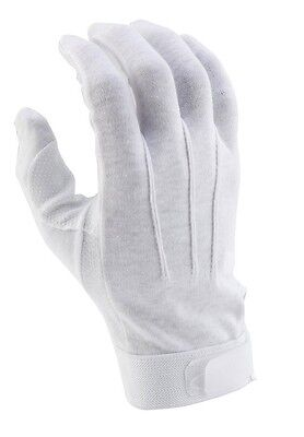 Director's Showcase White Deluxe Sure Grip Marching Band Parade Gloves
