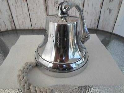 "6"" Aluminum Fire Bell ~ Chrome Finish ~ Fireman's Truck Fireman Alarm Ship"