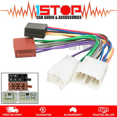 ISO WIRING HARNESS for TOYOTA COROLLA 1993-2011 cable connector lead loom plug