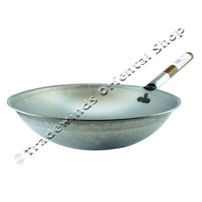 "Hancock 14"" (36Cm) Rolled Edge Round Based Wok"