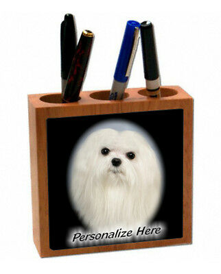 Maltese    Personalized  Pencil and Pen Holder
