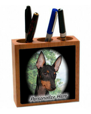 Manchester  Terrier    Personalized  Pencil and Pen Holder