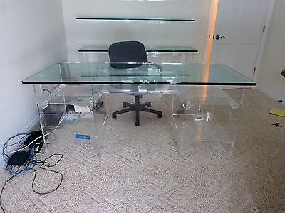 "Incredibly Stylish 20Th C  Modernist Lucite ""ghost""  Desk"