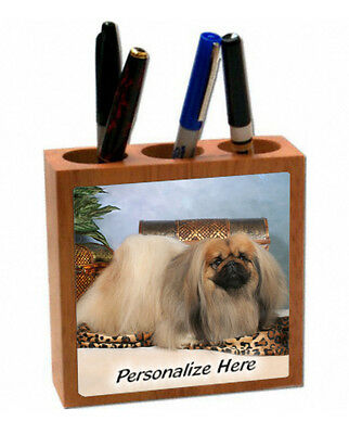 Pekingese   cream color  ( 3 )  Personalized  Pencil and Pen Holder