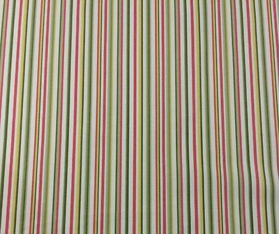f704efdc0 Covington Freesia Green Red Yellow Striped Furniture Fabric By The Yard 54